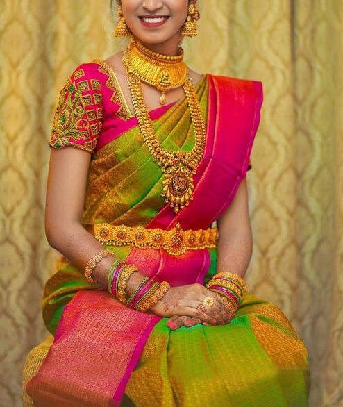 Refreshing Yellow Pink Colored Soft Silk Saree With Blouse - SP17